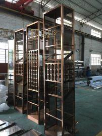 北京客厅红酒架酒柜展示柜不锈钢酒架定制设计