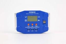 厂家直销离网太阳能路灯控制器20a pwm lcd光伏发电充电控制器 20A充电控制器