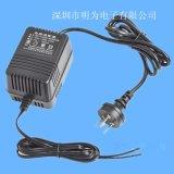 双线电源适配器 24V1.5A中规欧规线性电源