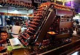 自动翻转烧烤神奇 排骨串烤串机器 韩国自动旋转烤肉机