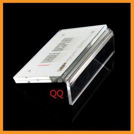 L型强磁台签台卡 横款A6亚克力桌牌展示牌 水晶标价牌