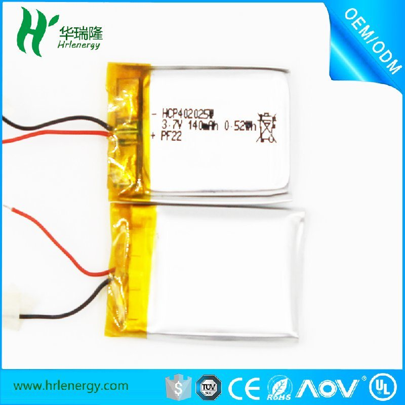 402025-140mah電池  聚合物鋰電池廠家