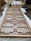 供应不锈钢餐厅隔断不锈钢拉丝中式花格屏风加工销售