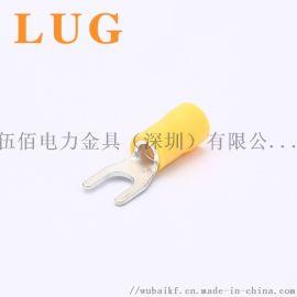 PVC尼龙叉型预绝缘冷压端子Y形线耳铜鼻子