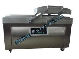 供应双室内抽食品大米卤味腊肠熟食泡菜猪肉真空包装机 不锈钢机身 双工位工作效率高
