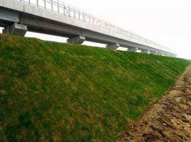 环保草毯护理各坡度边坡