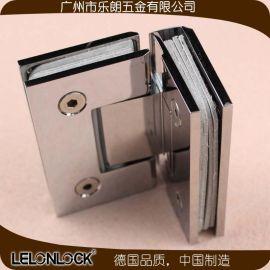 乐朗五金爆款黄铜/不锈钢玻璃夹 浴室淋浴房玻璃门铰链