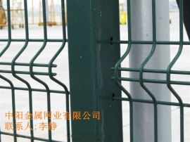 中陽公司 三角折彎護欄網 桃形柱 工業圍欄網