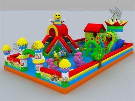 小孩子爱玩的滑梯气床垫价格,公园广场收费的儿童充气蹦蹦床
