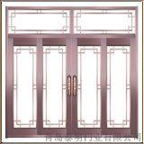 青島酒店用拱形玻璃銅門 青島銅門廠家直銷