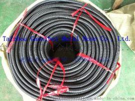 厂家供应包塑软管 普通黑色包塑金属软管 PVC软管