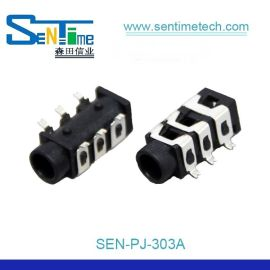 3.5耳机插座PJ-303A 6脚3节不带开关插座