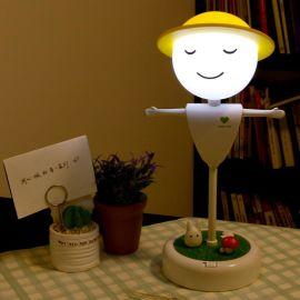 天蜗创意稻草人小夜灯 LED触碰感应灯USB充电台灯 新奇特电子产品