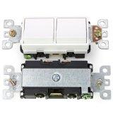 15A120V美式單控開關 美標電源開關 美國家用電源開關全銅PC料