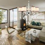 歐式現代鐵藝水晶吊燈客廳餐廳臥室吊燈6618