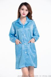 防静电衣服 蓝白色防静电大褂 防静电无尘清洁工作服 防尘净化服