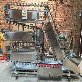 全自动烤肉串翻转机不锈钢旋转链条循环式烧烤机