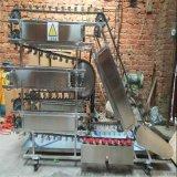 全自动烤肉串翻转机不锈钢旋转链條循环式烧烤机