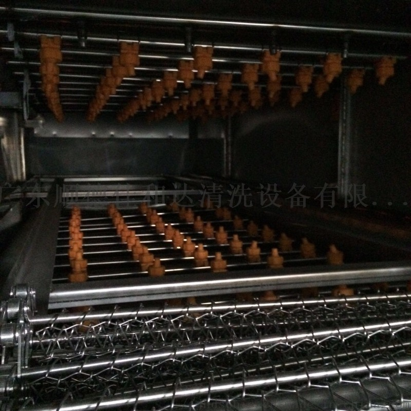 蔬菜氣泡渦流清洗機爬坡線