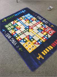 工厂直销家用客厅飞行棋地毯地垫超大号儿童益智玩具游戏宝宝毛绒爬行垫