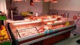 超市敞開式冷鮮肉展示櫃,鮮肉保鮮存放櫃定做