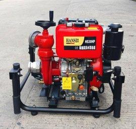 3寸救火必备柴油机动消防泵手抬式