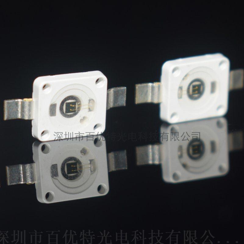 850波长 7060红外点阵LED贴片灯珠 加强版 晶元42mail大功率3w发光二极管