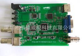 TVI/CVI/AHD 转 HDMI VGA AV 方案(CH5600方案) 支持TVI 3MP-8MP摄像机