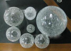 定做 冰花瓶,冰裂玻璃灯罩,冰花玻璃灯罩