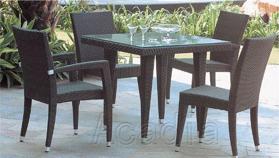 铝合框架编藤桌椅(AC-RF36)