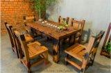 老船木餐厅家具长方形餐桌圆形餐桌椅子