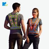 廠家定制 2018款LED V字反光安全胸背帶反光