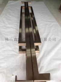 四川专业定做大型  异型不锈钢大门拉手制作及安装