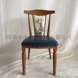 **餐厅实木餐椅**原木椅子订制简约欧式餐椅