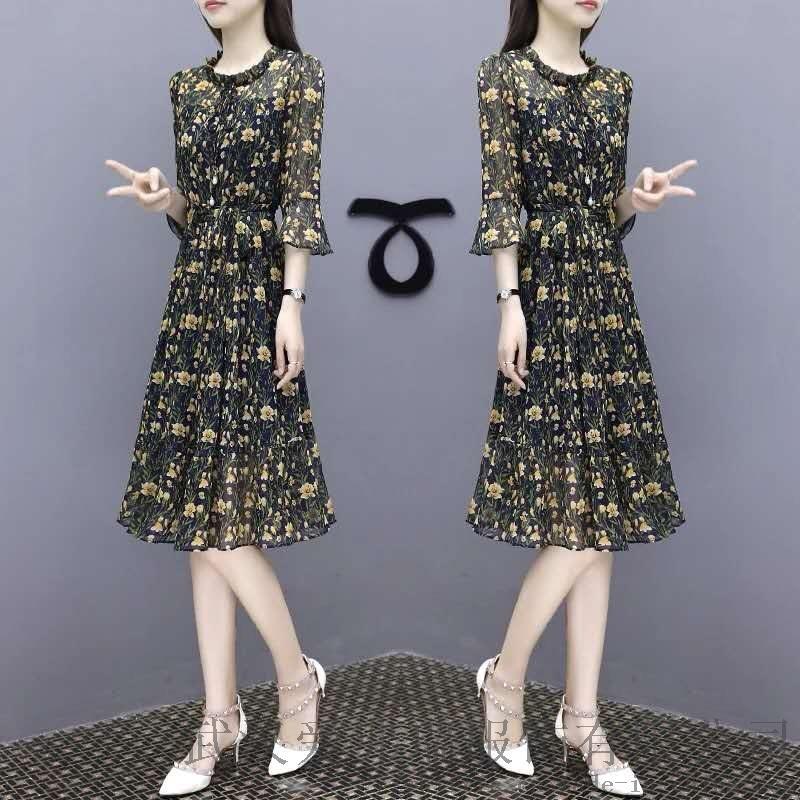 中国服装进货网站莫卡欧长袖连衣裙【一手货源】