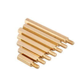 环保六角铜螺柱 主板机箱铜螺柱M2.5-M6