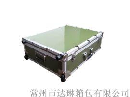 厂家定做拉杆铝箱 军绿色仪器箱