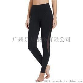 瑜伽服加工厂健身速干长裤运动裤OEM弹力