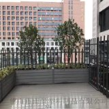 PS塑木防腐防嗮花园别墅公园绿化带草坪围栏
