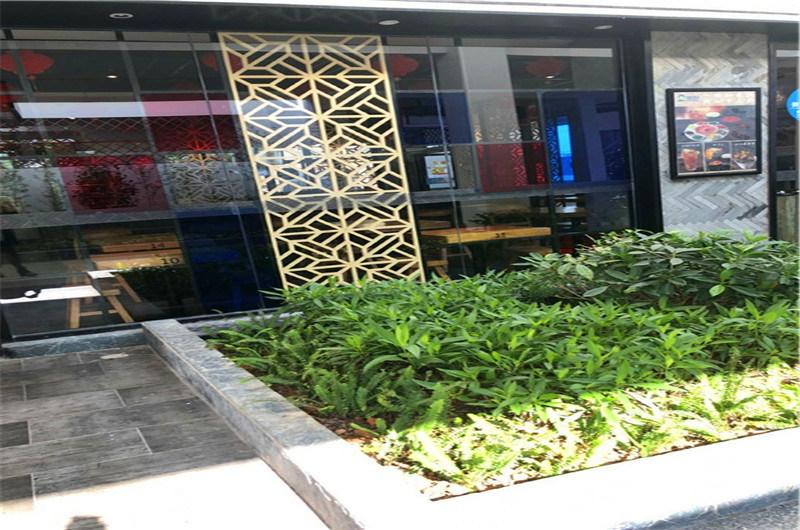 郑州仿古街道铝窗花 阁楼门窗隔断铝窗花