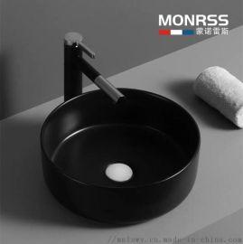 哑光 黑色彩色 洗手盆 欧式艺术盆