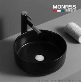 啞光 黑色彩色 洗手盆 歐式藝術盆