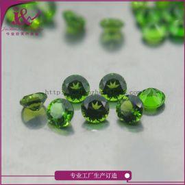 广西梧州工厂批发宝石工艺天然圆形透辉石0.9mm规格可定制