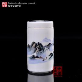 景德镇精品手绘茶叶罐  陶瓷包装盒  储茶罐