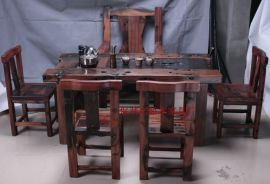 老船木家具,老船木茶桌功夫茶台,实木仿古茶几茶艺桌