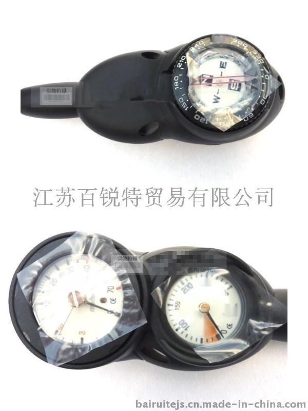 江苏潜水仪表组合 压力表深度表指南北针 潜水三联表 二联表气压表