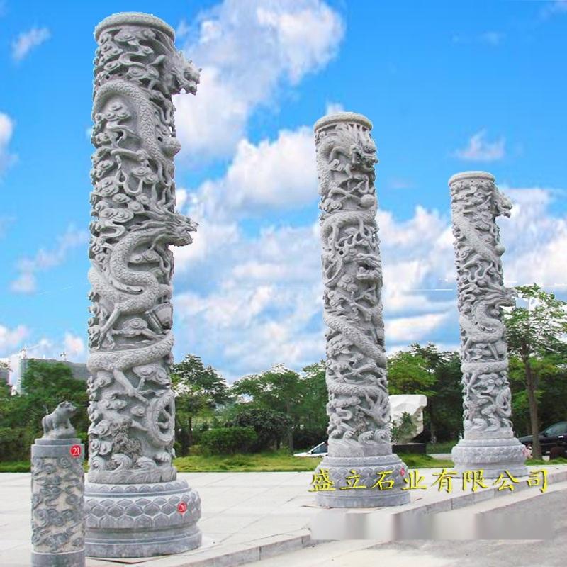 定制石雕龙柱 广场石雕文化柱 石头柱子 龙柱子