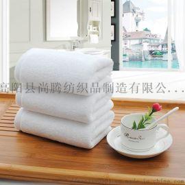 厂家直销酒店白毛巾洗浴一次性毛巾可定制logo店名
