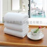 廠家直銷酒店白毛巾洗浴一次性毛巾可定制logo店名