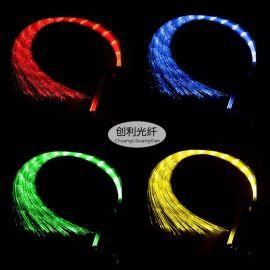 通体PMMA光纤丝发光流水光纤线地毯光纤发光衣服丝塑料光纤导光丝